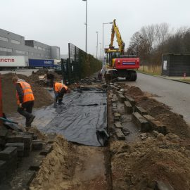 Herstellen inrit te Nieuw-Vennep